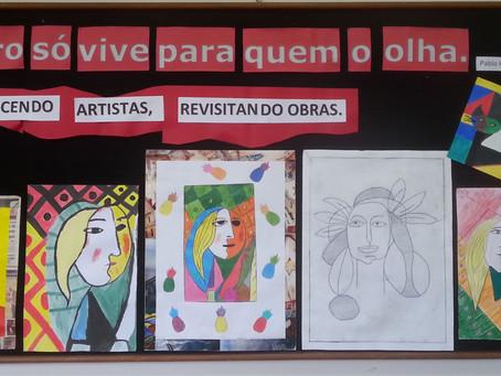 Alunos da Escola da URI fazem releituras da arte cubista do séc. XX