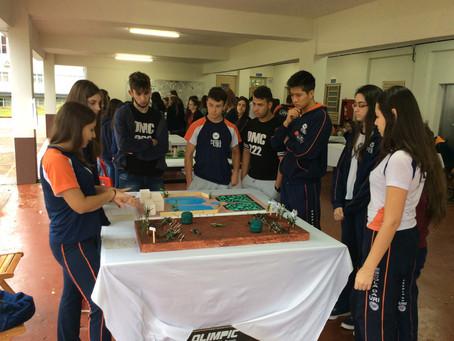 Turmas do 9º ano constroem maquetes da primeira guerra