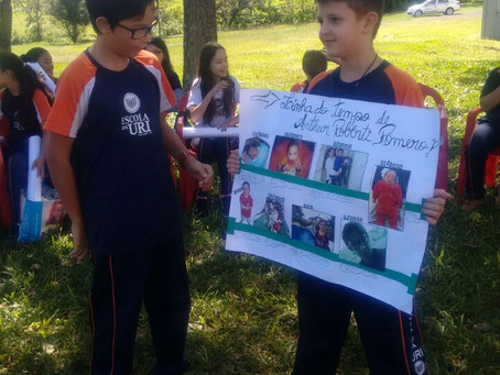 Os alunos do 6º Ano da Escola da URI desenvolveram linha do tempo