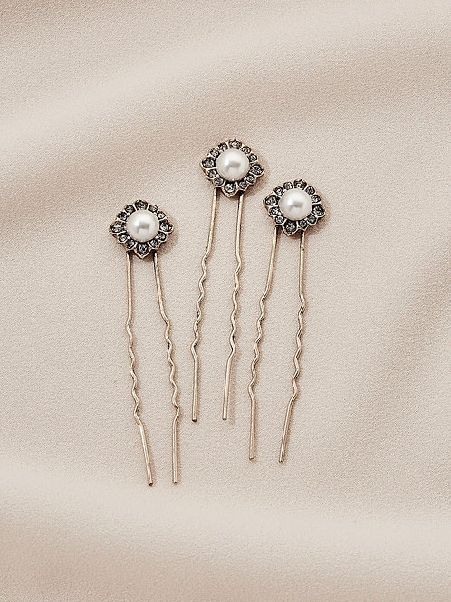 Daisy Hair Pins (Set of 3)