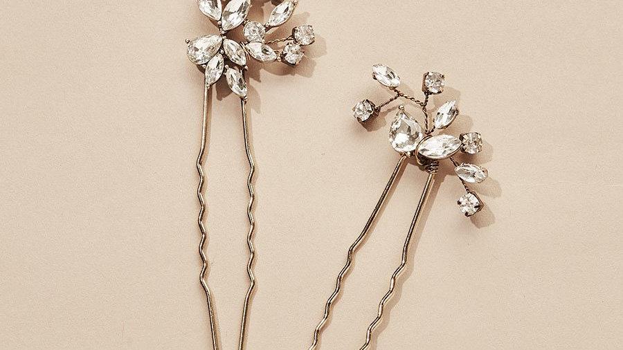 Hudson Crystal Hair Pins (Set of 2)