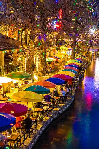Lively winter night at River Walk in San Antonio - SheCasa Crashpad / PIT pad Randolph AFB