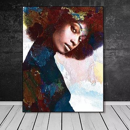 All Eyes on Me -Unframed Canvas Wall Art
