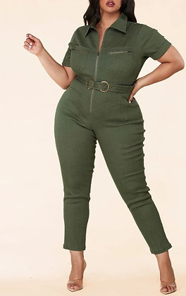 Fit & Fab Jumpsuit - Olive