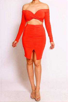 Coral Bombshell Two Piece