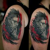 Trashpolka portrait tattoo