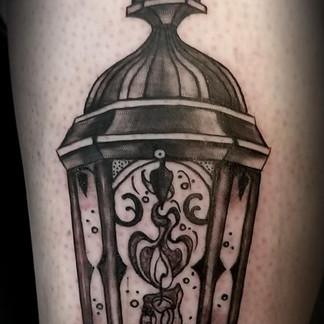 Trdational lantern tattoo