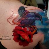 Color tattoo ravens poppy maximumcolor