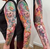 Watercolor asia theme sleeve