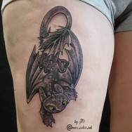 toothless dragon cute tattoo thigh maximumcolor tattoo