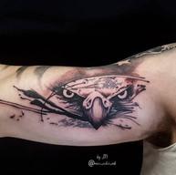 tattoo eagle black and grey inner bicep