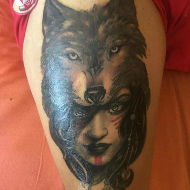 Woldheaddress tattoo