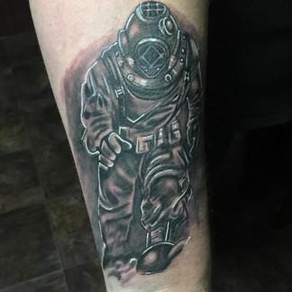 Diver tattoo