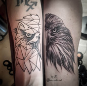 matching father daughter tattoo yegtattoo stalbertattoo eagle