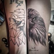matching father daughter tattoo yegtattoo stalbertattoo eagle