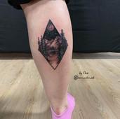 tattoo mountains geometrical nature stalbert maximumcolor