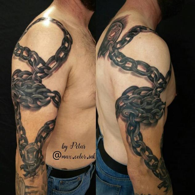 Chain tattoo