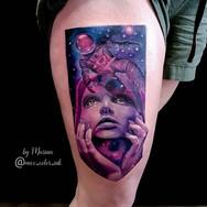 tattoo space thigh stalbert portrait realistic