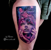 tattoo space thigh stalbert portrait realistic