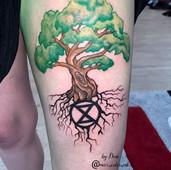 tree thigh tattoo stalbert maximumcolour