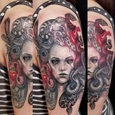 Medusa shoulder tattoo