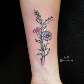 simple flower tattoo small