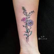 simple flower tattoo small