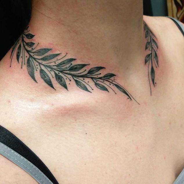 Olive neck tattoo