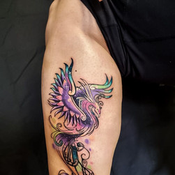 phoenix shoulder tattoo