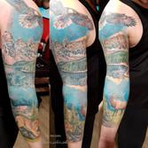 Jasper color sleeve tattoo