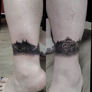 Anklet tattoo mountains nature