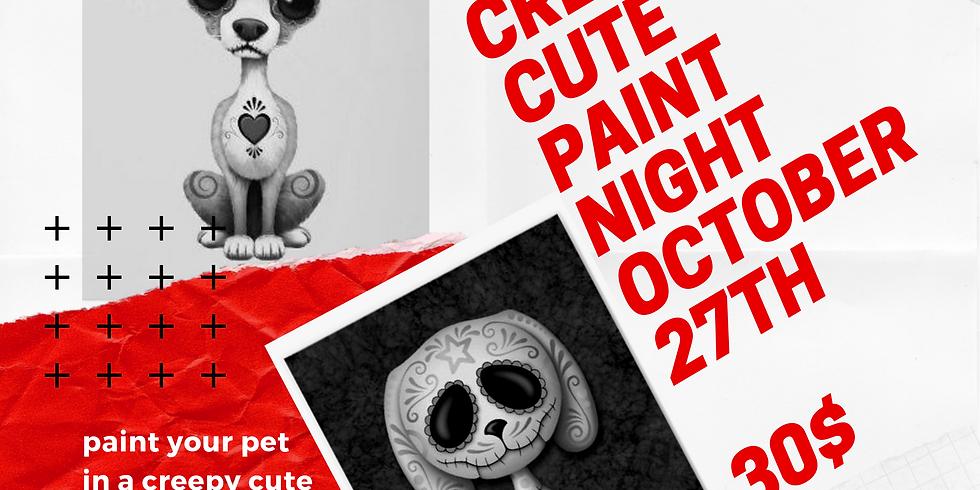 Creepy cute paint night  | Maximum Colour Ink