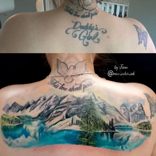 mountains rockies tattoo