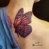 Fairy butterfly tattoo