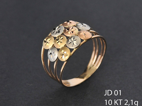Anel Colorido JD01 10kt