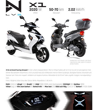 X1 Grand Touring Fyndbilar EL Moped