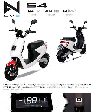 LV S4 Fyndbilar EL Moped