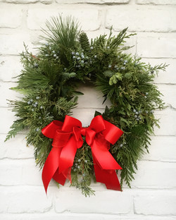 Wreath Red Bow