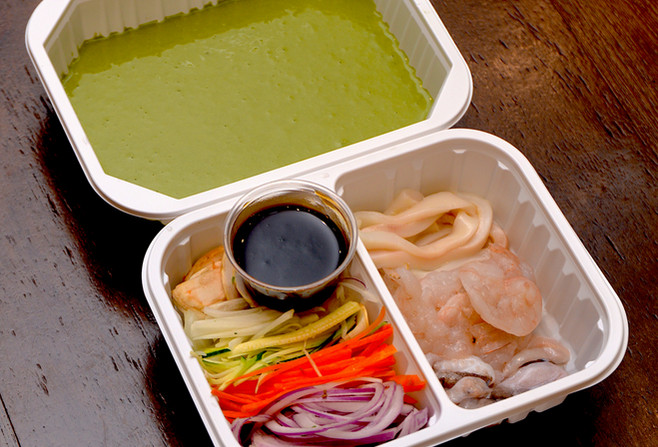Yama's Green Tea Seafood Pancake Set