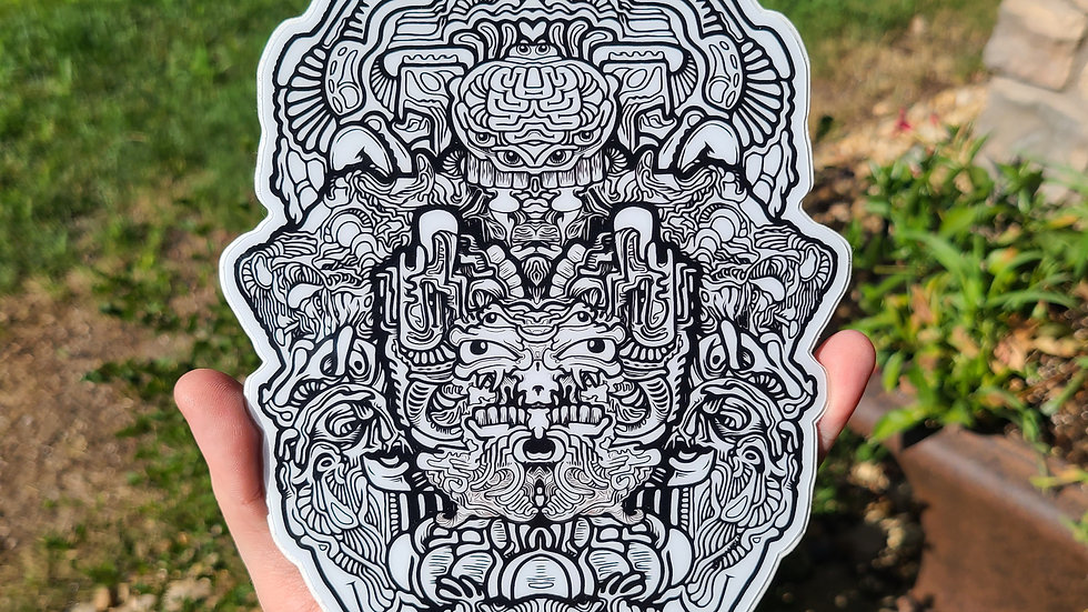 Great White Buffalo Stickers Le25