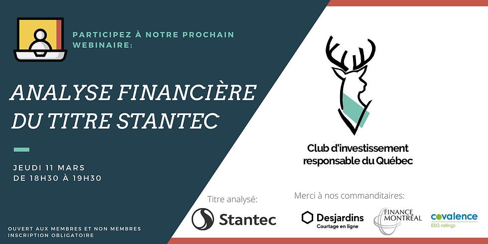 Prochaine Analyse Financière: Stantec (STN)