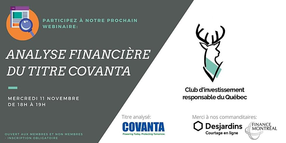 Analyse Financière de Covanta (CVA) par le CIRQC
