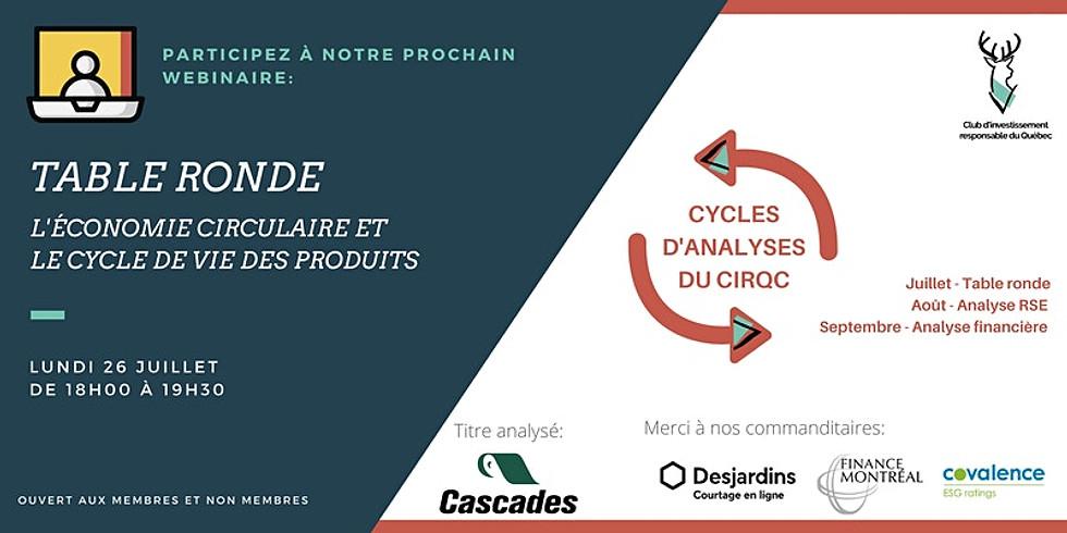 Table Ronde - L'économie circulaire et le cycle de vie des produits
