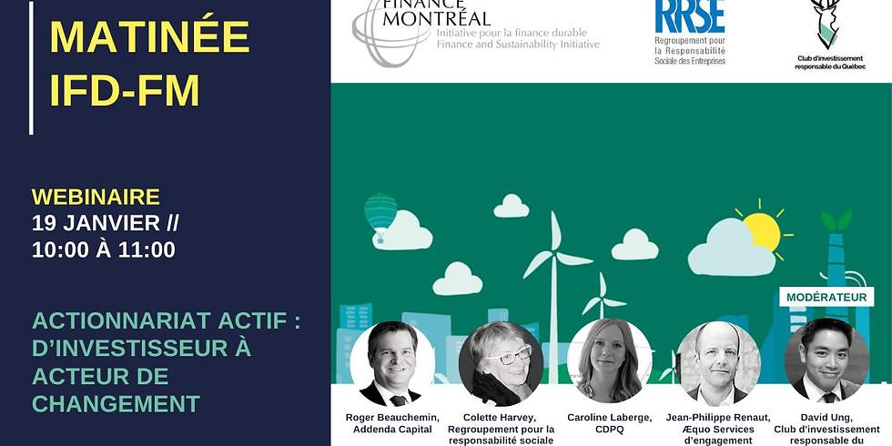 Panel «ACTIONNARIAT ACTIF : D'investisseur à acteur de changement»