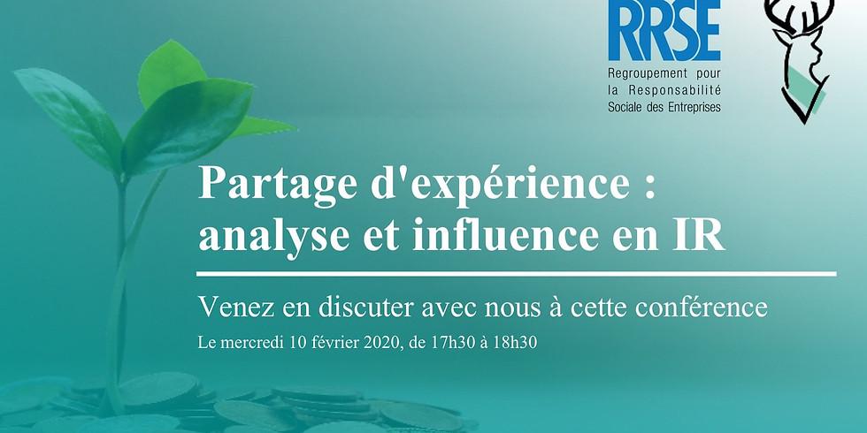 Discussion: Analyse et influence en investissement responsable