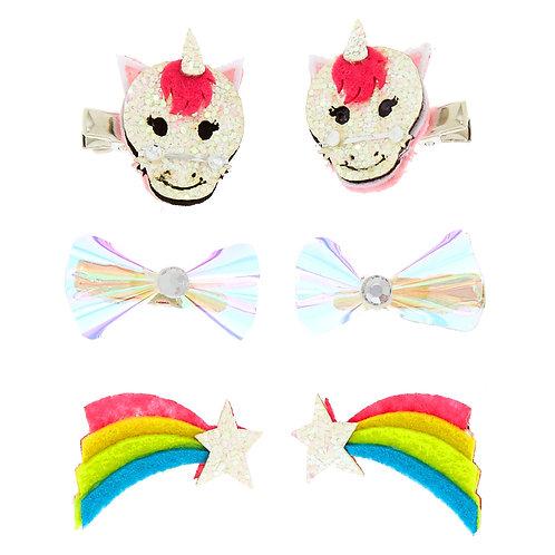 Unicorn Rainbow snap Clip