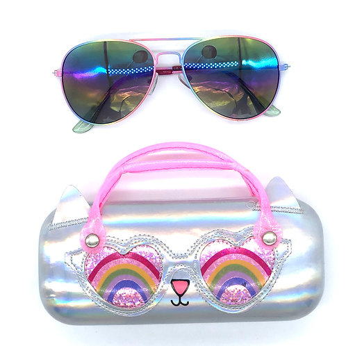 Sunglasses and sunglass bag set
