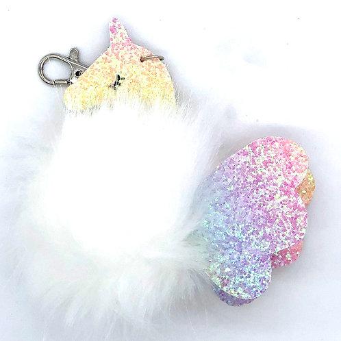 Unicorn PomPom Key Ring