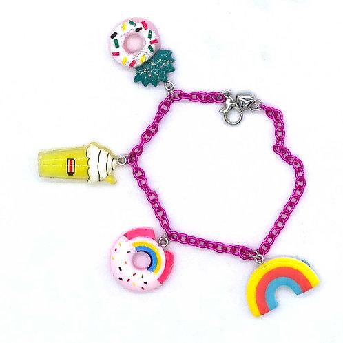 Donut Summer Charm Bracelet