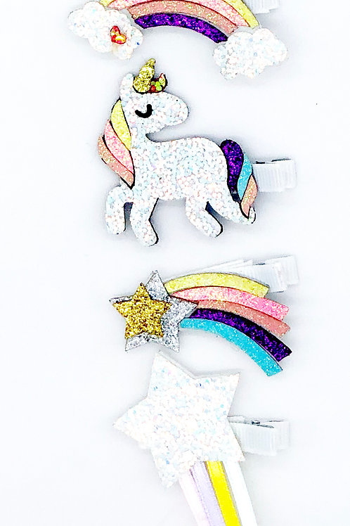 Glitter Unicorn and Friends Beak pack